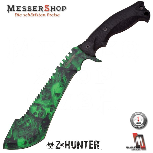 Z-Hunter Kukri Machete Green Skull