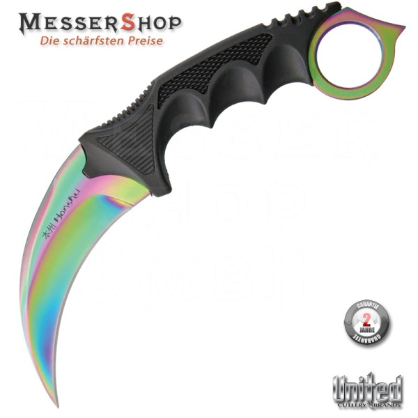 United Cutlery Honshu Karambit Rainbow with Sheath