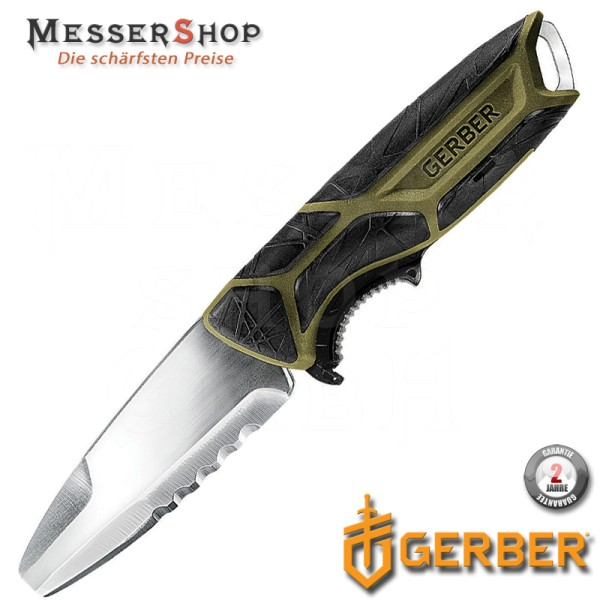 Gerber Outdoormesser CrossRiver Fixed Blade - Green