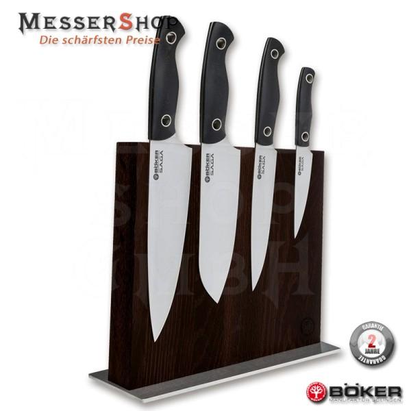 Böker Saga Küchenmesser G10 Satin Set Style