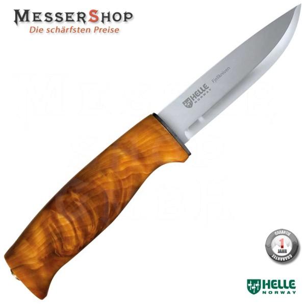 Helle Outdoormesser, Modell 4 Fjellkniven, Dreilagenstahl, masur