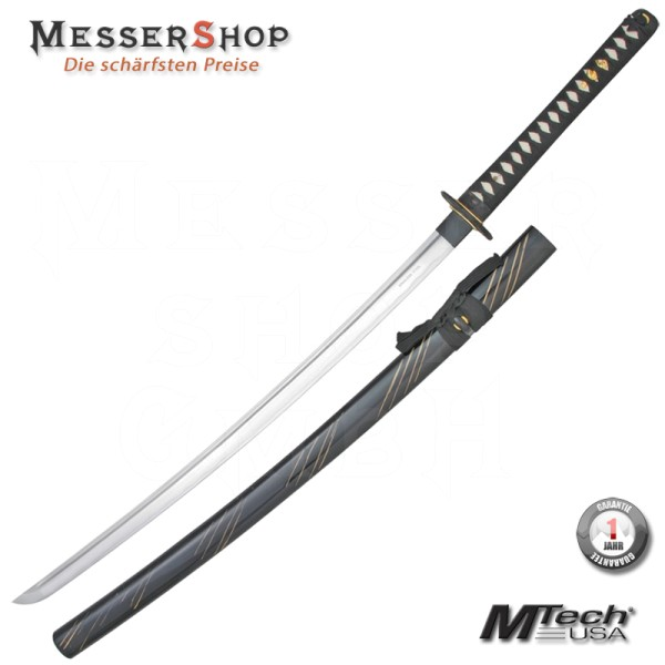 MTech Traditional Katana Black Carbon Steel