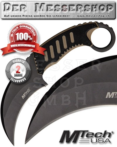 MTech Karambit Neck Knife - Tan-Black