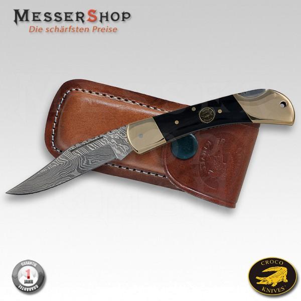 Croco Damast-Taschenmesser Damascus 8