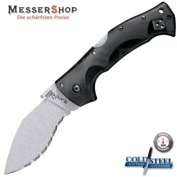 Cold Steel Einhandmesser Rajah III Serrated - Stonewash - CTS® BD1