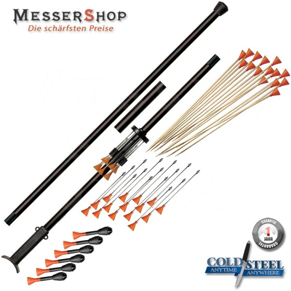 Cold Steel Big Bore Blowgun/Blasrohr - 5 Foot - 3 teilig