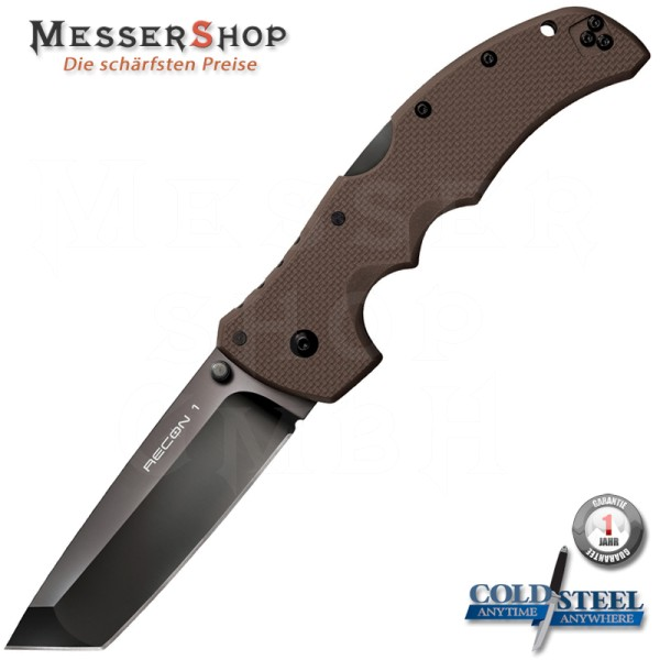 Cold Steel Einhandmesser Recon 1 Tanto Dark Earth im Glattschliff