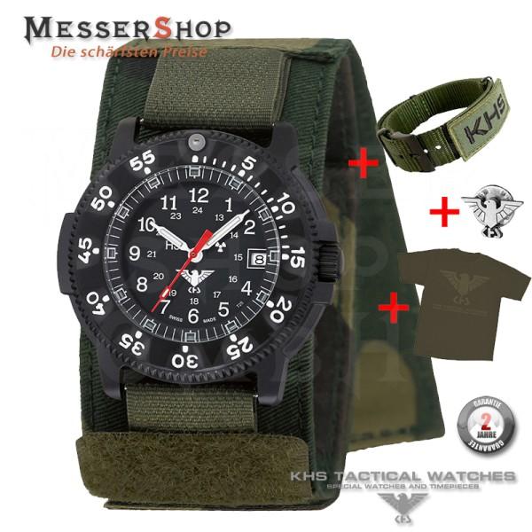 KHS Militär- und Einsatzuhr Dark Commander Titan Pro ZBV - Green