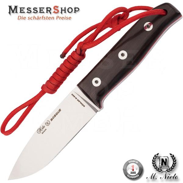 Nieto Jagd_/Outdoormesser BOSQUE, Böhler Stahl N-695, rote GFK-Zwischenlage, Grenadillgriffschalen,