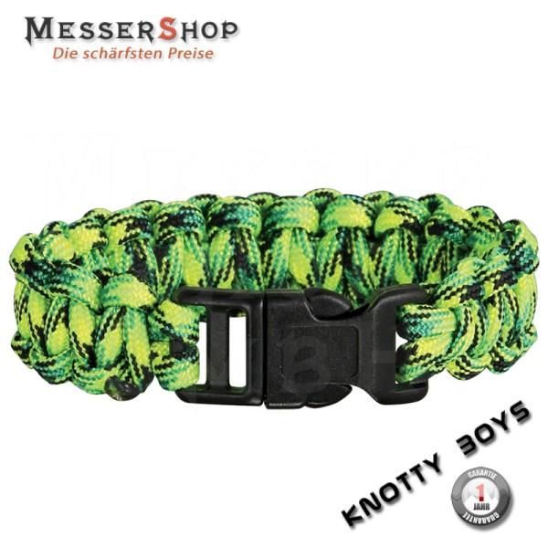 Knotty Boys Tactical Survival Bracelet - Gecko