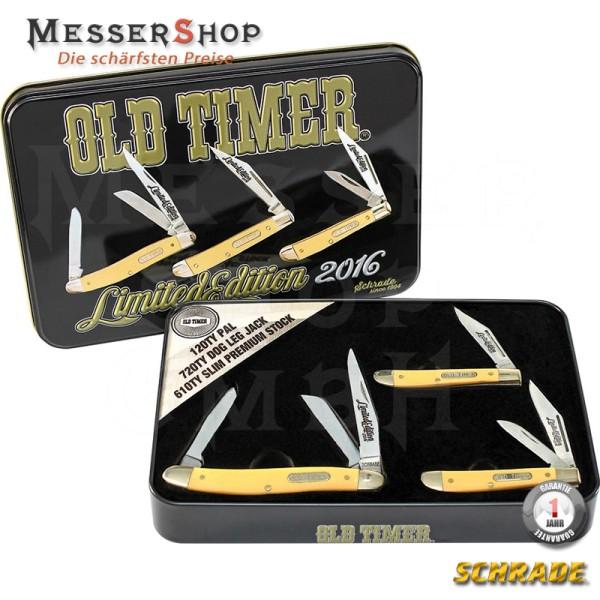Schrade Taschenmesser Old Timer Tin 3er-Set