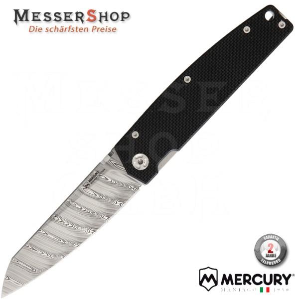 Mercury Einhandmesser Logen G10 Damascus - Black