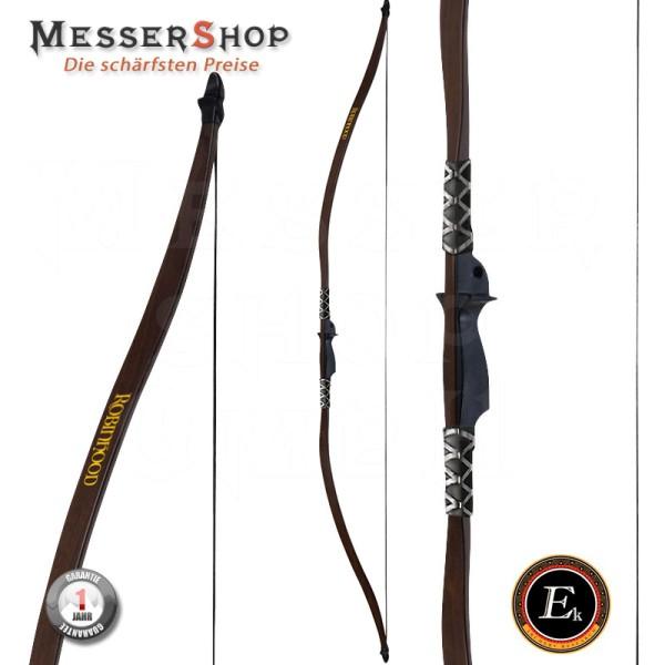 Ek-Archery Recuve Langbogen-Set, in Holzoptik, Zubehör Zuggewicht 13,6-15,9 kg(30-35lbs.) Rechts- un