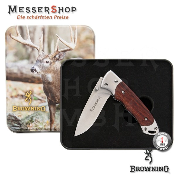 Browning Einhandmesser Whitetail Linerlock With Tin