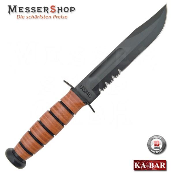 Ka-Bar Kampfmesser USMC Fighting Knife - partially serrated