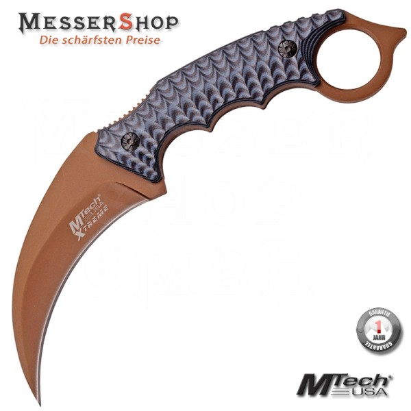 MTech Tactical Karambit - Brown