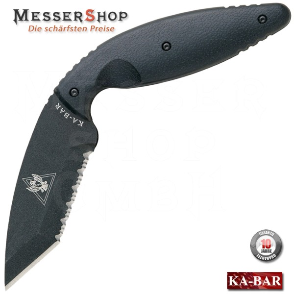 KA-BAR TDI Law Enforcement Knife Black - Large - Sägeklinge