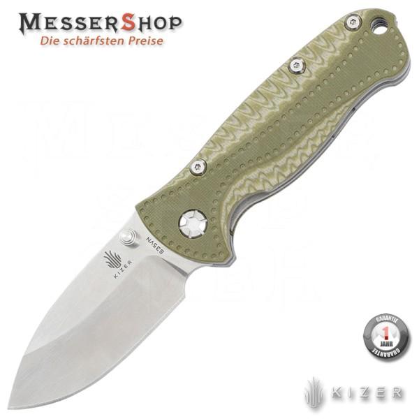 Kizer Einhandmesser Linerlock Green