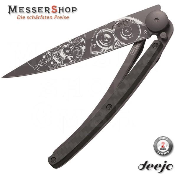 Deejo Taschenmesser Tattoo 37g Watchmaker CF - 37 Gramm
