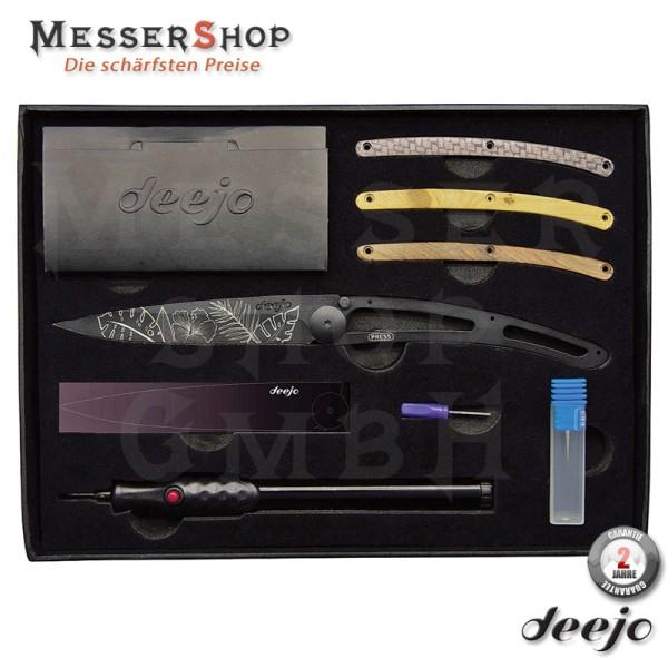 Deejo Taschenmesser Tattoo Your Deejo Geschenkbox