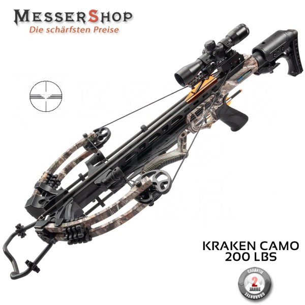 Compound Armbrust Gewehr Kraken 200 lbs - camo